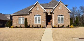 Bryan Wallace Home Builders exterior brick facade.