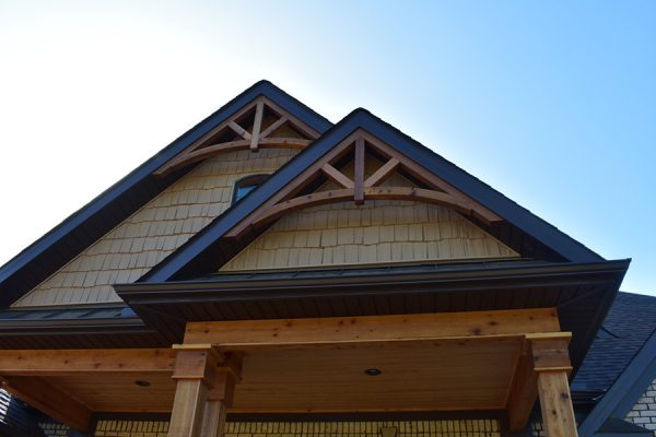 Exterior Vaulted Roof Gable.