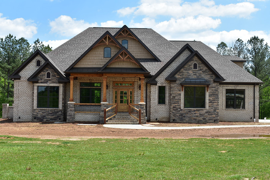 Rustic Stone And Brick House