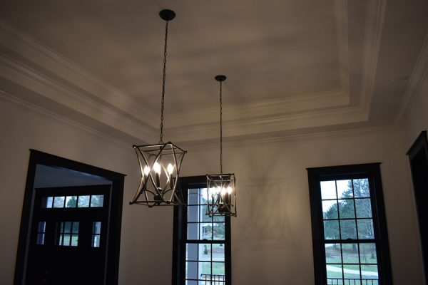 Dining room light fixtures.