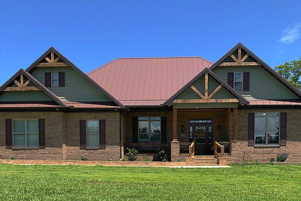 Burleson Mountain rustic home with metal roof